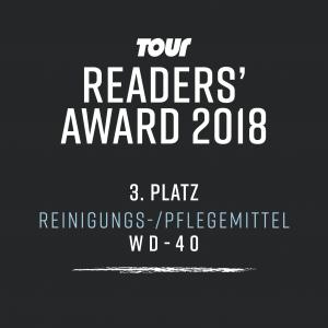 TOUR - Readers' Award 2018 - 3. Platz für WD-40