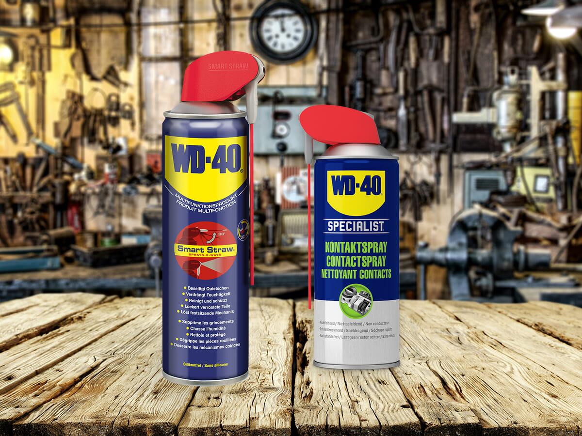 WD-40 Multifunktionsprodukt und Kontaktspray